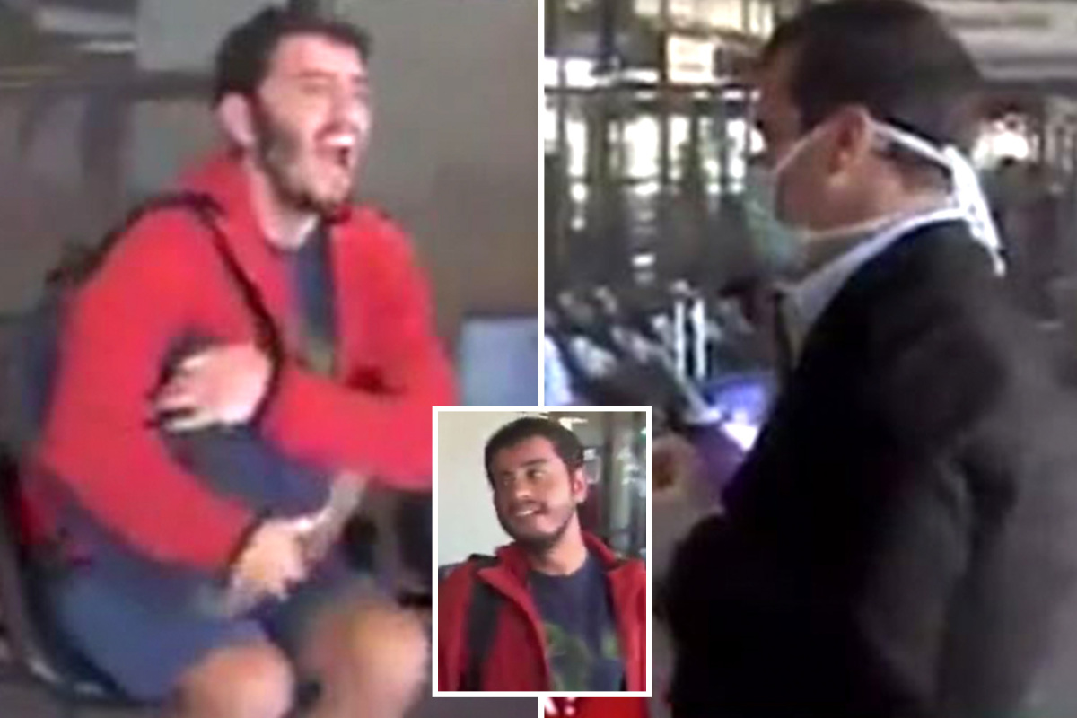 'Coronavirus-riddled' bus passenger deliberately coughs and sneezes on Argentinian news reporter on live TV
