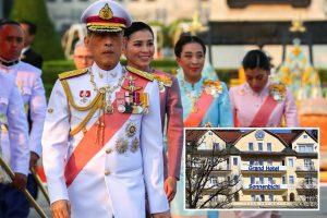 King of Thailand 'isolates' from coronavirus with his TWENTY girlfriends after hiring out an entire hotel in Germany