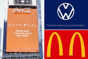McDonald's, Audi and Volkswagen among brands creating social distancing versions of their famous logos