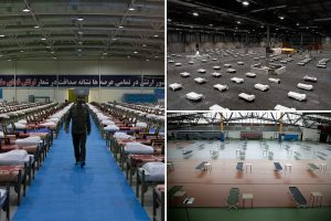 World prepares for coronavirus floodgates to open as massive field hospitals spring up all over the planet