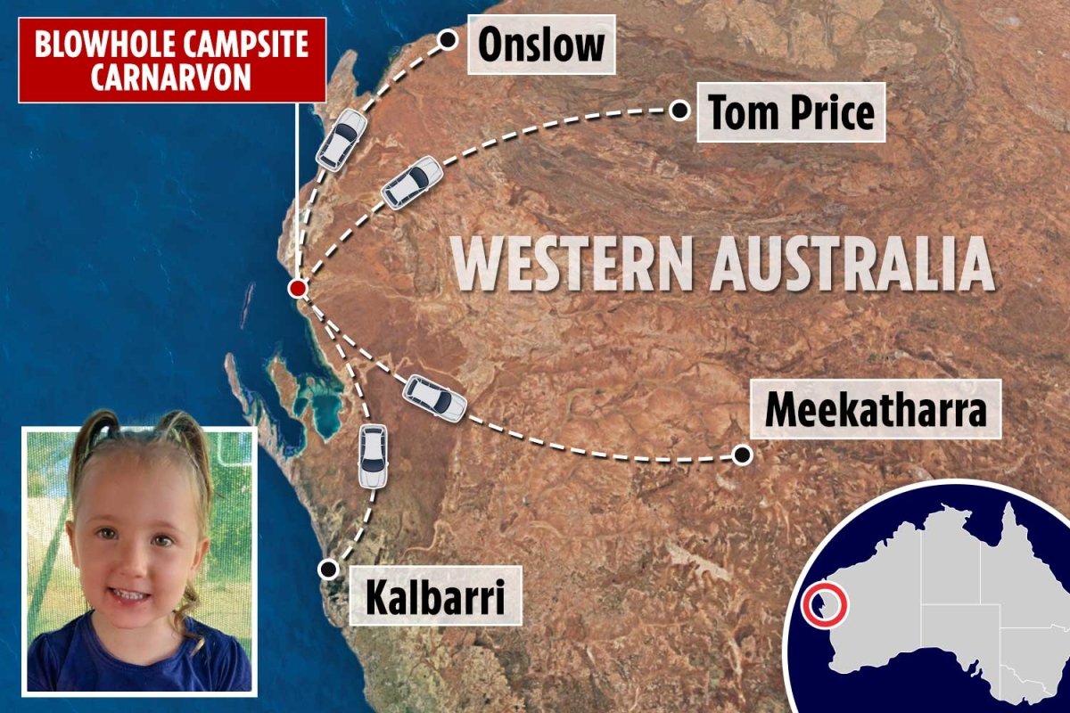 Chilling map shows four key places 'Aussie Maddie' Cleo Smith could have been taken as cops probe 20 sex offenders