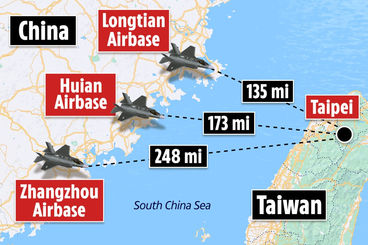 China on war footing as it beefs up three air bases near Taiwan amid WW3 fears, satellite images suggest