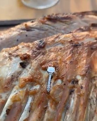 Moment Salt Bae pulls engagement ring from £200 rack of ribs as man proposes in front of stunned diners