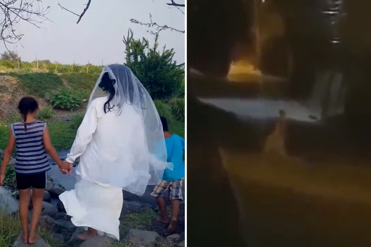 Woman 'shot dead after dressing as a ghost to scare her neighbours as prank goes horrifically wrong'